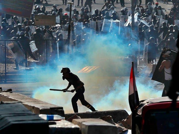 عراق میں حکومت مخالف مظاہروں کے دوران مظاہرین کے خلاف استعمال ہونے والے بم ایرانی ساختہ ہیں