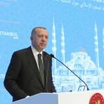 استنبول: ترک صدر رجب طیب اردگان اجتماع سے خطاب کر رہے ہیں