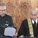 صدر مملکت عارف علوی نے گلزار احمد نے چیف جسٹس آف پاکستان کا حلف لیا