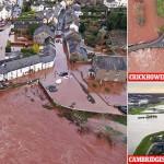 سمندری طوفان ڈینس نے برطانیہ میں نظام زندگی درہم برہم