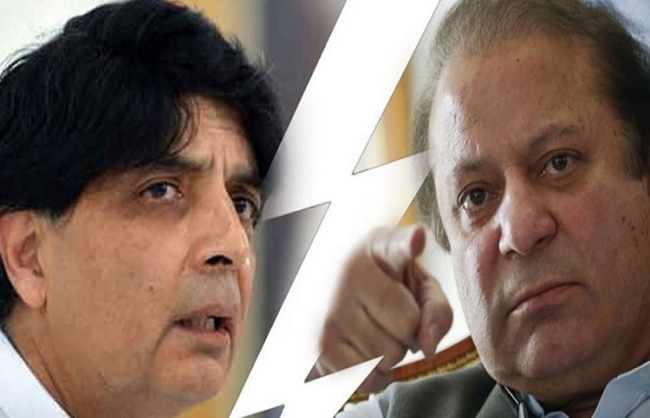 سینئر سیاستدان چوہدری نثار علی خان اور سابق وزیر اعظم  نواز شریف