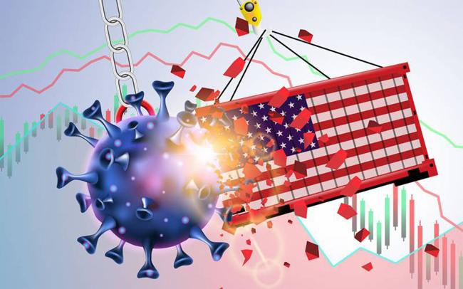 کوروناوائرس کے باعث مجموعی قومی پیداوار (جی ڈی پی) کے حساب سے امریکی شرح نمو سالانہ بنیاد پر 4.8 فیصد کمی سے دوچار ہے