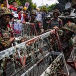 میانمر میں مظاہرین کے خلاف نیا کریک ڈائون درجنوں گرفتار