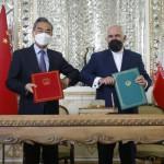 ہفتے کے روز تہران میں ایران اور چین کے درمیان 25 سالہ معاہدے کے نام سے تعاون کی ایک دستاویز پر دستخط کیے گئے تھے